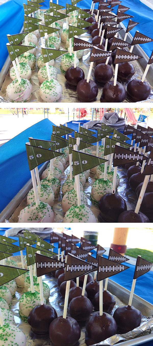 FootballCakePops via Simply Evani