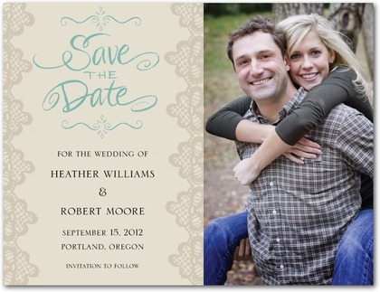 SavetheDates via Wedding Paper Divas