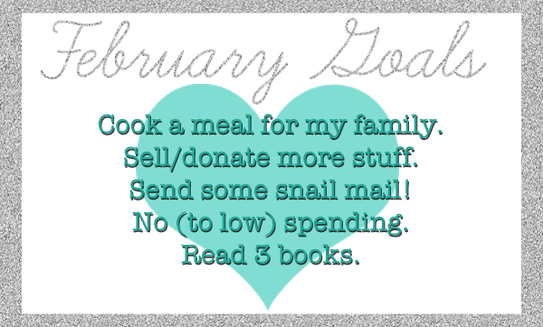 February Goals via Simply Evani
